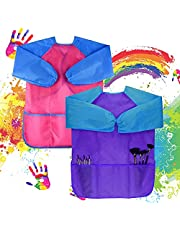 Waterproof Children Art Smock Toddler Apron Child Painting Apron Painting Supplies Art Aprons Ages 2-6