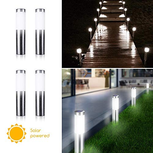 Stainless Steel Bollard Solar Lights
