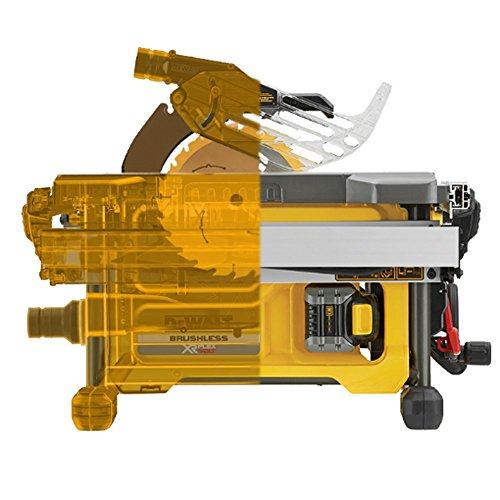 Dewalt DCS7485N-XJ XR Flex Volt Table Saw Bare Unit, 108 W, 54 V, Yellow/Black, 210 mm, Set of 8 Pieces