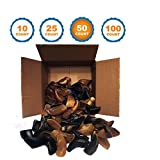 123 Treats Smoked Cow Hooves | 50 Pack | 100% Natural Dog Dental Treats | Beef Hoof from