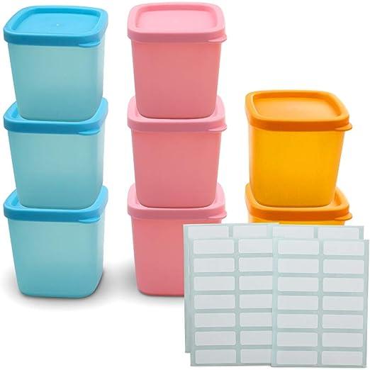 AITREASURE Mini contenedores de alimentos para niños y bebés ...