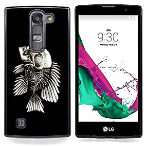 GIFT CHOICE / Teléfono Estuche protector Duro Cáscara Funda Cubierta Caso / Hard Case for LG G4c Curve H522Y ( G4 MINI , NOT FOR LG G4 ) // Fish Skeleton //