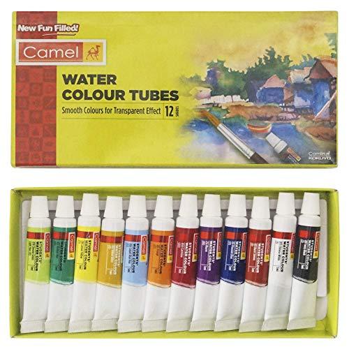 Camel Camlin Kokuyo Student Water Color Tube – 5ml Each, 12 Shades