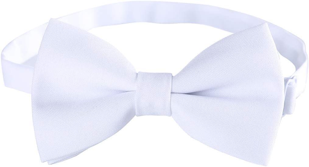 Demi blue Men Adjustable Pre-tied Bow Ties Groom Formal Tuxedo Bowties in Solid Color By Kajeer