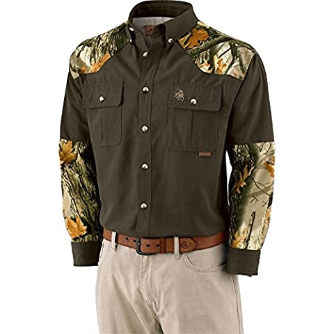 Legendary Whitetails Men's God's Country Camo Button Down Camp Shirt Swamp X-Large Tall - Signature Camp Shirts