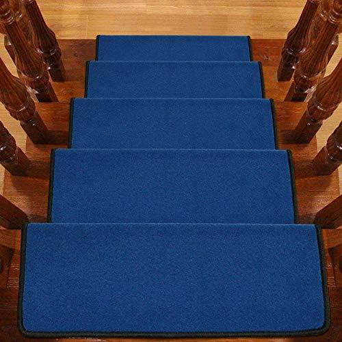 Sólido de color huellas de escalón alfombrilla antideslizante for alfombras de escaleras Espesar antideslizante Escalera Mats, Interior Exterior Escalera Mats (Color : L , Size : 80X24CM glue-free) : Amazon.es: Hogar