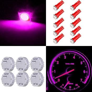 ECCPP X27.168 Stepper Motors Instrument Speedometer Gauge Cluster 6 motor kit+10Pack Red T5 Wedge Bulbs)