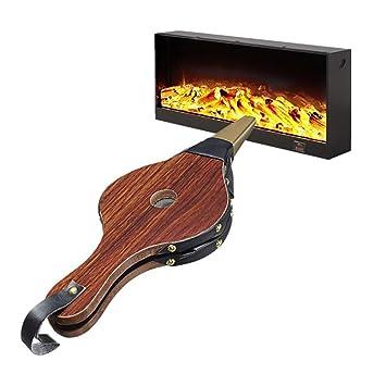 Campanas para chimenea de madera, herramienta para bomberos, campanas de fuego marrón, herramienta