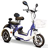 E-Wheels - EW-27 Crossover Pre-Mobility Scooter - 3-Wheel - White/Blue