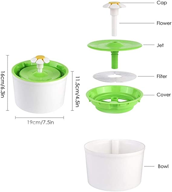 Yesiidor Drinking Water Filter Portable Pet Water Dispenser Filter for Dog Bird Outdoor Camping Pet Water Filter Accessories