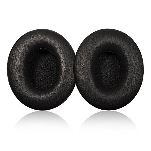 Orchidtent Replacement Ear Pad / Ear Cushion / Ear Cups / Ear Cover / Earpads Repair Parts for Beats by Dr. Dre Solo2, Solo 2.0 On-Ear Wireless / Wired Headphones (Wired, BLACK)