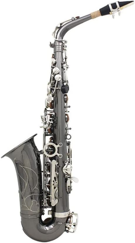 Prettyia ブラックニッケル Eフラット アルトサックス サクソフォン 木管楽器