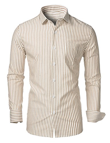 Button Down Striped Dress Shirt - 4