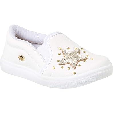 cee508b8cf Tênis Infantil Feminino Klin Baby Gloss Street Star Cor  Branco - Tam.  25