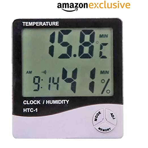 LCD Digital Temperature Humidity Meter HTC-2 Hygrometer Thermometer F6A1