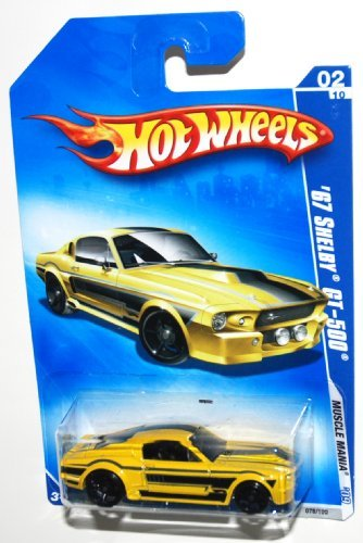 Hot Wheels 2009 Muscle Mania 1967 Ford Shelby Mustang GT500 GT-500 Yellow ()