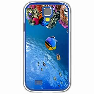 Personalized Samsung Galaxy S4 SIV 9500 Back Cover Diy PC Hard Shell Case Fish White