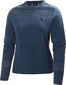 Amazon.com: Helly Hansen Womens Blue Mountain Wool Sweater X-small ...