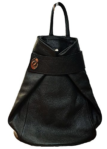 Donna Pelle Carele Nero Zaino Vera In Made Italy Bottega qUw7q