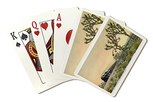 California - View of California Limited Train Travelling Through Desert (Playing Card Deck - 52 Card Poker Size with Jokers) ()