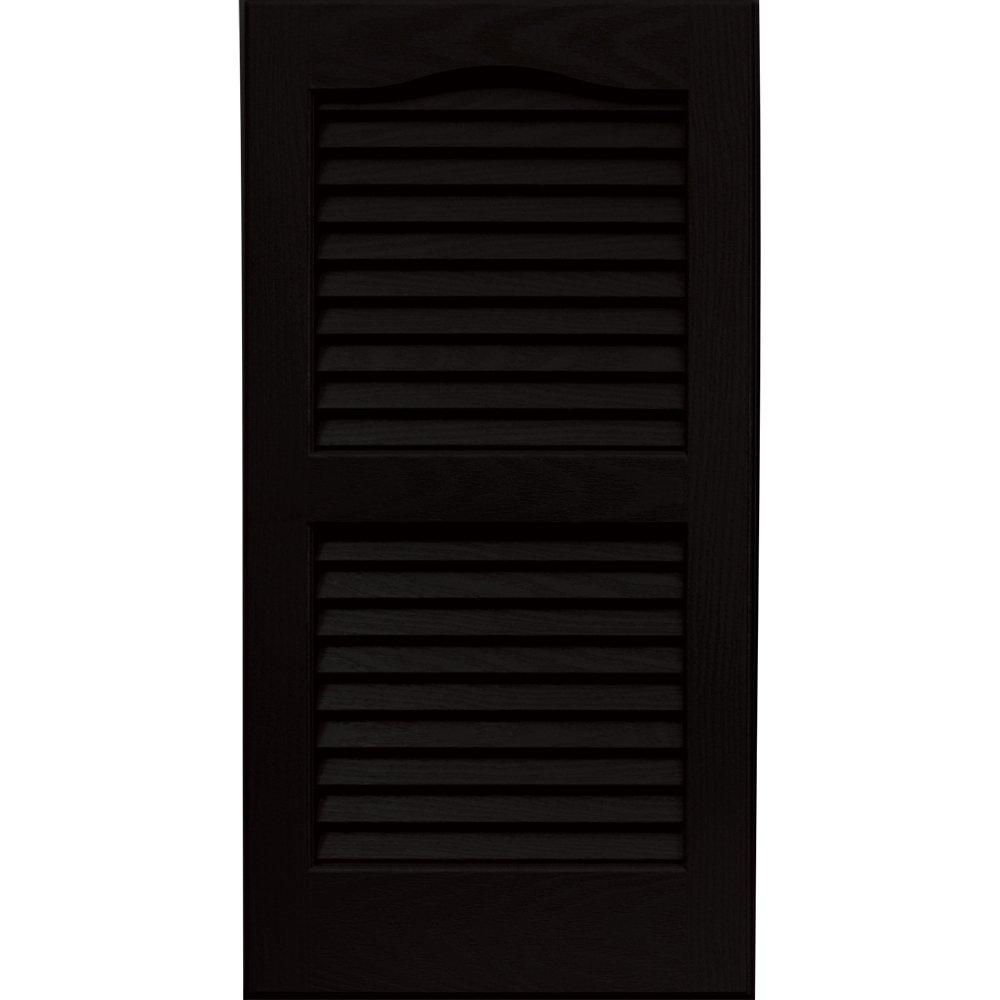 Vantage 0114027002 14X27 Louver Arch Shutter/Pair 002, Black