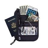 Zoppen Rfid Travel Passport Wallet Neck Holder Ultra Slim Stash Money Pouch - Water Proof