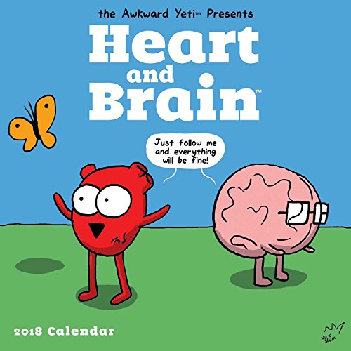 Heart and Brain 2018 Wall Calendar cover