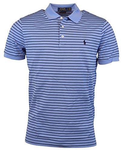 Polo Ralph Lauren Mens Classic Fit Mesh Stretch Polo Shirt - XL - Emerson Blue (Blue Classic Mesh Polo)