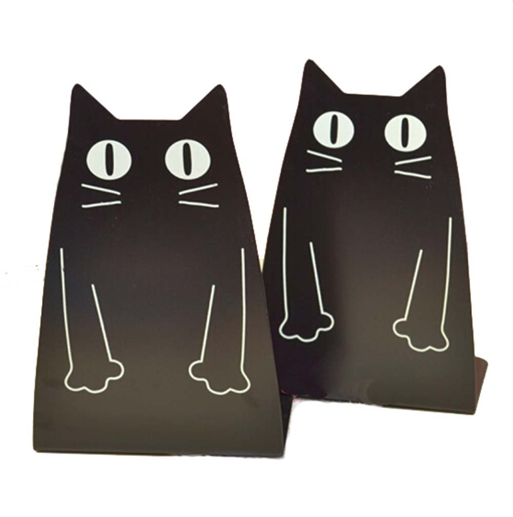 Smartkitch Cartoon Cat Nonskid Bookends Art Bookend,1 Pair (Black) by Smartkitch