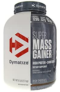 Amazon.com: Dymatize Super Mass Gainer Chocolate 6 lbs (2,722g) (Packaging May Vary): Health