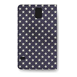Leather Folio Phone Case For Samsung Galaxy S5 Leather Folio - Navy Stars Folio Lightweight