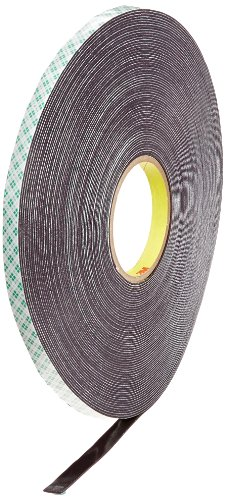 """3M 4056 Natural Polyurethane Double Coated Foam Tape, 0.5"""" Width x 36yd Length (1 roll)"""