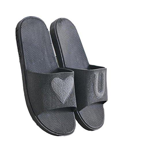Pantoufles Casual black Douce Sandale Été de Printemps Unisexe Anti Ménage Extérieure Pantoufle de Légère Bains Slip Couple Salle Intérieure Pantoufles SIUHRqU7n