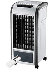 CAOQAO 4 in 1 Climatiseur La Mode Refroidisseur d'air USB Ventilateur Climatiseur Mobile Purificateur d'air avec ContrôLe à Distance Air Refroidisseur Humidificateur,pour Maison Bureau Campus,Noir