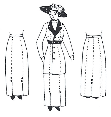 1910 - 1915 Skirt Pattern (there's also one for the jacket)