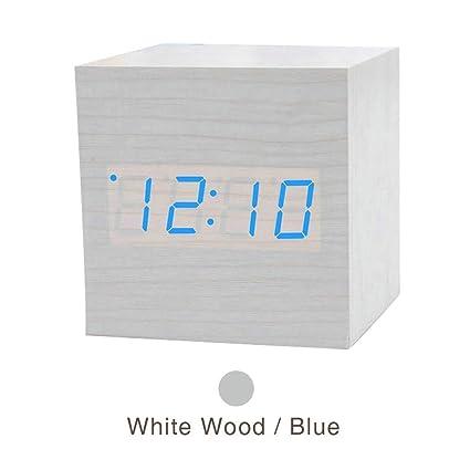 Amazon.com: GT Wooden LED Alarm Clocks Table Clock ...