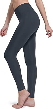 TSLA High-Waist/Mid-Waist Yoga Pants with Pockets, Tummy Control Yoga Leggings, Non See-Through 4 Way Stretch Workout Running Tights