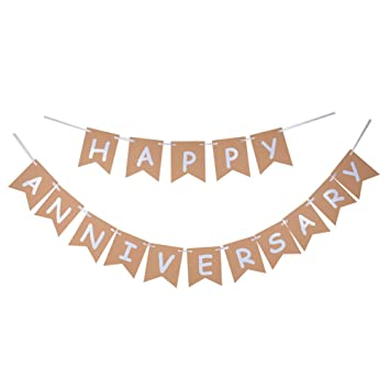 amazon com happy anniversary banner wedding anniversary sign