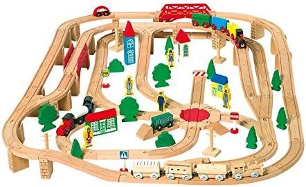 und Abfahrt für Holzeisenbahn Zubehör Holzspielzeug Auf