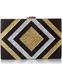 Metallic Diamond Box Clutch