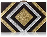 MILLY Metallic Diamond Box Clutch