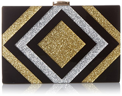 MILLY Metallic Diamond Box Clutch by MILLY
