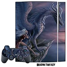 Mightyskins Protective Skin Decal Cover Sticker for Playstation 3 Console + two PS3 Controllers - Dragon Fantasy