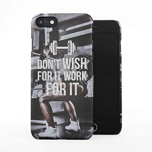 Workout Squat Fitness Cardio Sweat Girl in Gym Work for It Quote Plastic Phone Snap On Back Case Cover Shell Compatible with iPhone 7 & iPhone 8