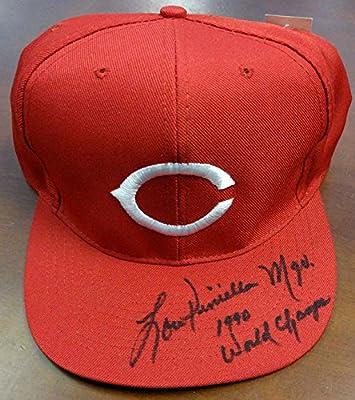 "Lou Piniella Autographed Cincinnati Reds Hat ""MGR. 1990 World Champs"" PSA/DNA #Y30678"