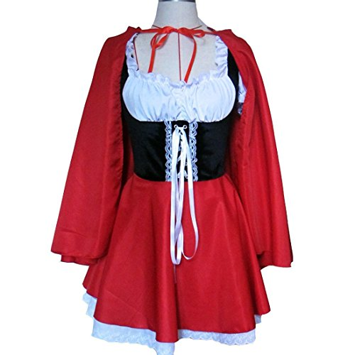 Little Women Costumes (Ulike2 Halloween Costumes For Women Sexy Cosplay Little Red Riding Hood Uniforms Fancy Dress Outfit S-6XL (M))