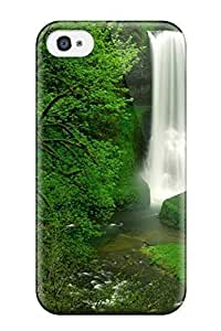 Awesome Hidden Waterfall Flip Case With Fashion Design For Iphone 4/4s