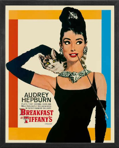 Breakfast at Tiffany's with Audrey Hepburn. Framed Movie Pos