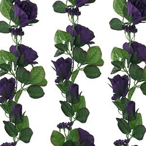 Purple Silk Rose Garland - Wedding Decoration 96