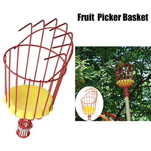 Tharv❤Fruit Picker Basket Tree Fruits Picking Harvesting Tool Gardening Supplies Metal Orange